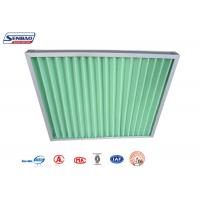 Buy cheap Green Synthetic Fiber Fiberglass Air Filters G3,G4 Primary Efficiency from wholesalers