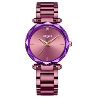 Buy cheap Fashion Purple Quartz Ladies Watch Good Luster Stainless Steel Band from wholesalers