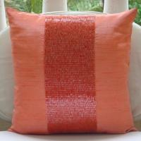 Buy cheap beaded pillows, sequin pillows, beaded cushion, bead pillow, cotton hand embroidery throw pillows,flowers pillow cover from wholesalers