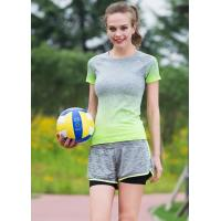 Buy cheap Side Stripe Womens Sports Clothing Suits , Womens Gym Apparel Stretch Fabrics from wholesalers