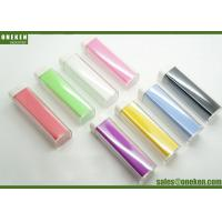 Quality Full Color Lipstick Shaped 2200mAh 2600mAh 18650 Power Bank Green / Purple / Yellow for sale