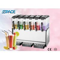 Buy cheap Fast Cooling Six Tank Juice Dispenser Machine , Electric Beverage Dispenser from wholesalers