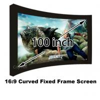 Buy cheap Top Quality HD Projection Screen 100 Inch Curved Fixed Frame 3D Projector Screens 16:9 from wholesalers
