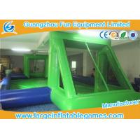 Buy cheap Portable Green / Blue Inflatable Football Pitch For Kids And Adults from wholesalers