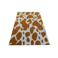Buy cheap Earth Yellow Acrylic Area Rug, Animal Pattern Handmade Area Carpet For House Decoration from wholesalers