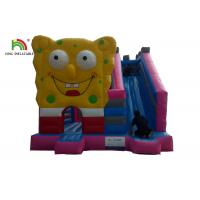 Buy cheap Pink Spongebob House Inflatable Jumping Castle With Square Pants And Side from wholesalers