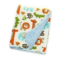 Buy cheap Square Swaddle Wrap For Newborn Baby , Warmer Berber Fleece Blanket For Baby from wholesalers