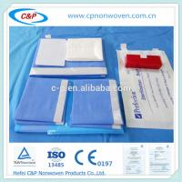 Buy cheap Blue SMS sterile craniotomy drape pack with EO sterile from wholesalers