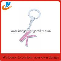Buy cheap Custom alphabet keychain holder,letter tag keychain with custom,tag holder key chains welcome custom from wholesalers