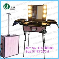 Buy cheap Pink Light Mobile Makeup Station Portable Durable For Hair Beauty Salon from wholesalers