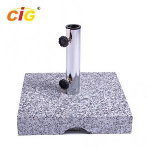 Buy cheap 25kg Outdoor Parasol Granite Umbrella Stand , Square Marble Umbrella Base product