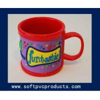 Buy cheap Large Decorative Red Custom Coffee Mugs / Personalized Travel Coffee Mugs for Promotion from wholesalers