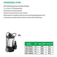 Buy cheap SUBMERSIBLE PUMP SDS-400AS SDS-550AS SDS-750AS SDS-1100AS product