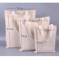 Buy cheap Zip Up Reusable Shopping Bag Nature Heavy Duty Cotton Canvas Made from wholesalers