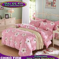 Buy cheap Pink and Flower Design Cotton  2 Pillow Shams 1 Flat Sheet 1 Duvet Cover Bedding Sets from wholesalers