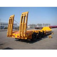 Buy cheap low bed 3 axle 60 ton lowboy semi-trailer for sale from wholesalers