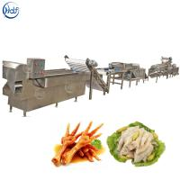 Buy cheap Stable Chicken Feet Processing Line , Chicken Feet Cutting Machine Easy Operation from wholesalers