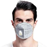 China Lightweight Anti Bacterial N95 Valved Mask Virus Protection Low Breath Resistance on sale