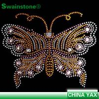 Buy cheap New Arrival animal series butterfly motif,motif butterfly,butterfly motif iron on hotfix transfer for t shirts from wholesalers