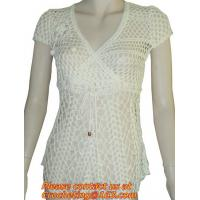 Buy cheap Bat Sweater Female Pullover Sweater Women Hollow Out Knitted Sweater Handmade Crochet Cape Women Blouses & Tops from wholesalers