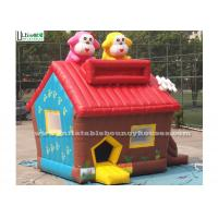 Buy cheap Colorful Small Cute Puppy Bounce House With Anti Ruptured PVC Custom Made from wholesalers