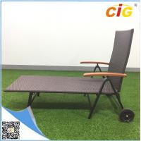 Buy cheap Rollaway Chaise Lounger Outdoor Furnitures Adjustable Sleeping Aluminum Lightweight Rattan Chair product