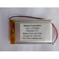 Buy cheap 1500mAh 3.7V Lithium Polymer Battery (LP703562) with CE approval from wholesalers