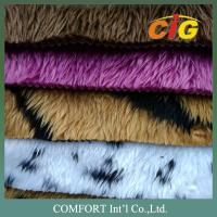 Buy cheap Anti - Static Colorful Auto Upholstery Fabric 100% Polyester Fake Fur For Seat Cover product