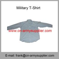 Buy cheap Wholesale  Cheap China Army Police Wear Wool T/R Military Officer Shirt from wholesalers