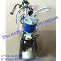 Buy cheap For EU market,Piston Typed Single Bucket Mobile Milking Machine,small portable milking machine for cow and sheep from wholesalers