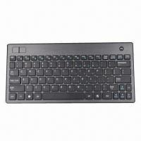 Buy cheap Wireless Keyboard with Trackball Mouse, Mini Keyboard, RF and Bluetooth Keyboard Available, Slim from wholesalers