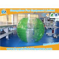 Buy cheap TPU Green Striped Color Bubble Football Inflatable Bumper Ball For Adults / Kids product