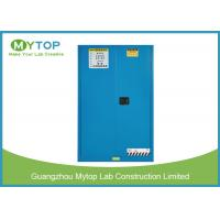 Buy cheap 30 Gal Blue Fireproof Safety Storage Cabinets For Flammable And Combustible Liquids from wholesalers