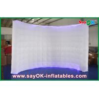 Buy cheap 210D Oxford Lighting Inflatable Wall Photo Booth Wedding with Led Strip , 1 - 3 Years Warranty from wholesalers