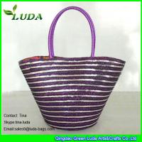 Buy cheap golden sequins decoration wheat straw handbags for sale from wholesalers