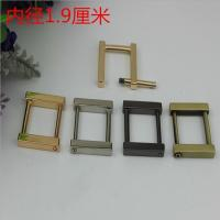 Buy cheap Fancy gold can detachable 19 mm metal rectangle square buckles for handbag from wholesalers