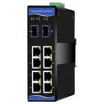 Buy cheap Managed Industrial Grade Ethernet Switch 8 Gigabit RJ45 ports+2 Gigabit SFP ports from wholesalers
