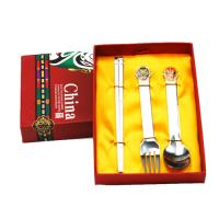Buy cheap Chinese Peking opera mask stainless steel three-piece (high gift box) from wholesalers
