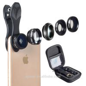 Buy cheap Detachable Mobile Phone Camera Lens 5 In 1 Optics Fixed Focus Lens Kit product