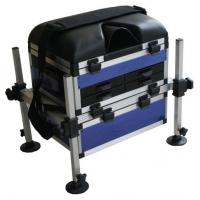 Buy cheap Light weight Adjustable foot plate Aluminum  sea fishing tackle seat box  with Telescopic legs from wholesalers