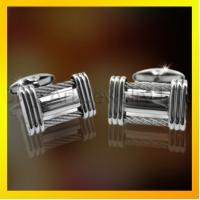Buy cheap high fashion silk knot cuflinks in stainless steel from wholesalers