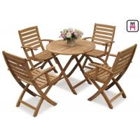 Buy cheap Rectangle / Round / Square Folding Table And Chairs Solid Wood Garden Furniture Sets from wholesalers