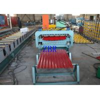 Buy cheap Trapezoidal Wall Panel Roll Forming Machine Horizontal Roller Manual Screw Tensioning product