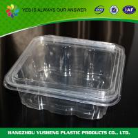 Buy cheap Temper Resistant 48 oz Clear Plastic Food Containers  Birthday / Barbecue from wholesalers