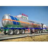 Buy cheap Liquefied Petroleum Gas Transport Semi Trailer / 45 m3 LPG Tanker Trailer from wholesalers