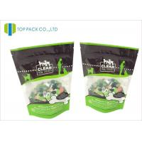 Buy cheap Glossy Finished Pet Food Packaging / foil stand up zip pouch Clear Window product