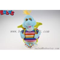 Buy cheap 10Cute Blue Cartoon Stuffed Dinosaur Plush Toy With Colorful Overalls from wholesalers
