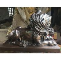 Buy cheap Contemporary Bronze Sculpture , Animal Style Small Bronze Lion Statue from wholesalers