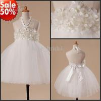 Buy cheap CUSTOM Made Cute Ivory Ankle Length A-line Toddler Pageant Dress Flower Girl Dresses from wholesalers