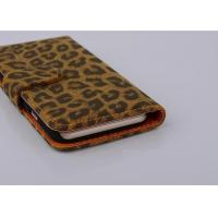 Buy cheap Ultra Slim Leopard Cell Phone Wallet Cases For Iphone 6( 4.7 ) 6 Plus 5s from wholesalers